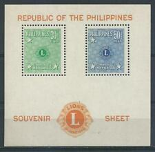 Philippines 1950 Sc# C71-72 Airmail Lions club souv sheet MNH
