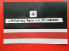 PHOTO  CLASS 90 ELECTRIC NAMEPLATE - 90 010 275 RAILWAY SQUADROON (VOLUNTEERS)