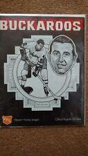 1971-1972 Portland Buckaroos vs. Seattle Totems Program.  Dick Van Impe on cover