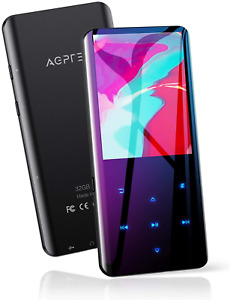 """32GB MP3 Player with Bluetooth 5.0, AGPTEK 2.4"""" Curved Screen Music Player with"""