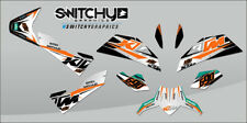KIT ADESIVI GRAFICHE RIDE White per moto DUKE 690 III 2008-2011 DECALS DEKOR
