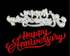 Happy Anniversary Scrapbooking Metal Cutting Dies DIY Album Embossing Stencils