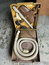 Vintage Hoover Portable Vacuum Cleaner Luggage Model 2110 w/Attachments - Powers