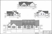 Full Set of single story 3 bedroom house plans 2,842 sq ft