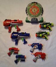 Lot of 8 Nerf Guns and Electronic Target Board