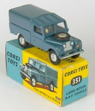 Corgi 351 Land-Rover R.A.F. Vehicle. Blue. Near-MINT/Boxed. 1950's