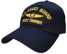 Coast Guard Rescue Swimmer SAR Hat Blue 100% Cotton Ball Cap Coast Guard Veteran