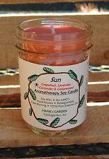 SUN Soy Wax Candle- CLEAN BURN Aromatherapy- Lavender Coriander Grapefruit Cedar