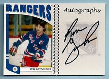 RON GRESCHNER 2004/05 IN THE GAME ITG FRANCHISE AUTOGRAPH AUTO RANGERS