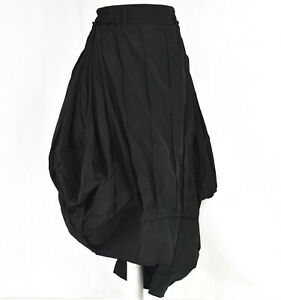 """QUIRKY BLACK MEMORY SILK STRUCTURED PARACHUTE SKIRT BY """"CREARE"""" SIZE L/XL"""