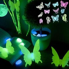 Creative 12 Pcs Glow in the Dark Fluorescent Butterfly sticker party Decor