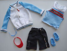 Barbie/KEN Clothes/Fashion/Athletic Outfit 2 Shirts, Shorts, Sandals, Visor NEW!