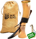 Thor Horn Large Viking Drinking Horn with Stand - Genuine Handcrafted Viking Hor