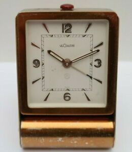 VINTAGE LE COULTRE 8 DAY TRAVEL CLOCK circa 1950s