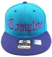 COMPTON Snapback Hat South Central LA Cap 2tone Teal Purple Los Angeles RAIDERS