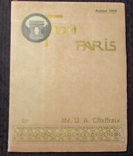 1910 FROM PARIS Monthly Review Private Edition FN- A. D'Avesne w/ Slipcase +++