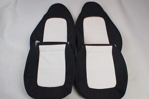 Custom Made 1996 - 2002 BMW Z3 Leather Seat Covers for Standard seat White Black
