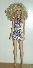 Barbie Basic Barbie Doll w/Pink, Black, White dress and a Necklace