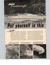 1960 PAPER AD 2 PG Buehler Turbocraft Jet Power Indiana Gear Work Motorboat Boat