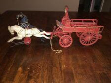 Kenton Hardware Co Cast-Iron-Carriages Horse drawn fire patrol of cast iron