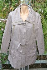 Ruched Detail Anorak Squirrel Brown ZIP Jacket Size 16. NEW RRP$69.99 Med.weight