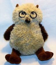 First & Main Plush Wise Owl Stuffed Animal Lovey Glasses 14""