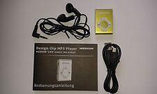 MEDION Aluminium Design Clip-MP3-Player E60011 / GRÜN mit Ohrhörer NEU !