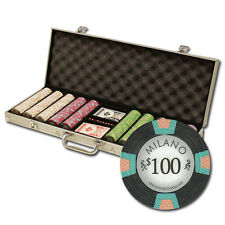 New 500 Milano 10g Clay Poker Chips Set with Aluminum Case - Pick Chips!