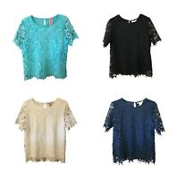 Womens PHILOSOPHY  Lace Top Shirt Blouse Assorted Colors and Size's