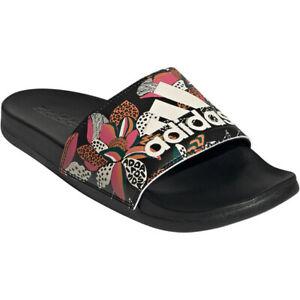 Adidas Adilette Comfort Slides Floral Womens Sliders Beach Sandals RRP £35