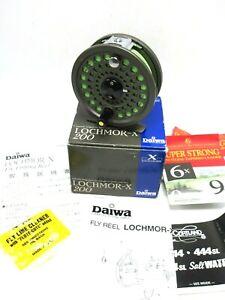 Daiwa Lochmor-X 200 Fly Reel w/ box, manuals, new fly line,etc