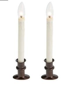 Plow & Hearth Adjustable Window Hugger Candles Set of 2 - Bronze 65G99 BRZ