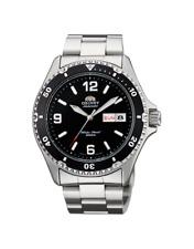 New  Orient Men's Diver Silver Watch Automatic Mako ll Black  Box Warranty F, S