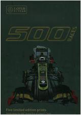 LOTUS 2012 500TH GP F1 GRAND PRIX RACE PRINT POSTER  FERRARI SCHUMACHER a2