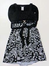 Girls Size 10 Disorderly Kids Black White Paisley Party Wedding Dress