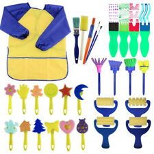 30pcs Paint Drawing sponges For Kids Of Fun Paint Brushes Art Smock For Toddlers