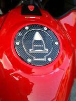 Tappo Serbatoio ADESIVI 3D CARBONIO PROTEZIONE per MOTO DUCATI MULTISTRADA 950