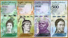 SET Venezuela 500;1000;2000;5000 Bolivares, 2016 (2017), P-New, New design UNC
