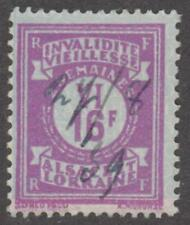 Alsace-Lorraine Social Insurance Revenue Yvert #ALS134 used 16f 1936 cv $24