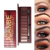 Ucanbe Molten Rock Heat Eye Shadow Makeup Palette Nude Shimmer Matte Smoky J5S3