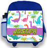 Personalised Kids Backpack Any Name Dinosaur Boys Childrens Back To School Bag 2