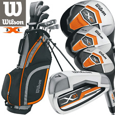 Wilson X31 Steel Shaft Mens Complete Golf Package Set + Stand Bag - LEFT HANDED