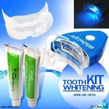 WHITE LIGHT HOME KIT TEETH TOOTH WHITENING GEL SUPER BRIGHT ORAL BLEACHING LED
