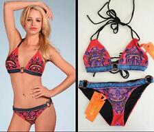 Hale Bob 2-Piece Bikini Top + Bottom Size Small 4 6 NWT Swimsuit Red Print $198