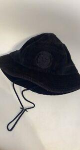 stone island supreme collab corduroy bucket hat black rare 100% authentic