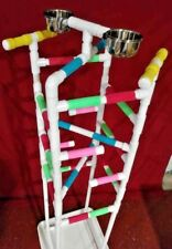 "Parrot Play Gym 58"" ""Tower"" Floor Perch Stand 3/4"" Pvc *"