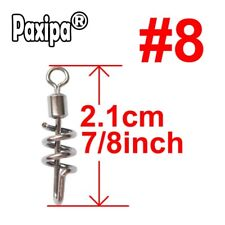 20pcs Spiral Fishing Swivel Safety Fast Snap Solid Ring Fishing Accessory Paxipa
