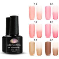 7ml Nail Art UV Gel Polish Opal Jelly Gel Pink Soak Off Varnish Manicure 6Colors