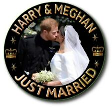 PRINCE HARRY~MEGHAN MARKLE 6 X PIN BACK BUTTONS~ ROYAL WEDDING SOUVENIR ~2.2""