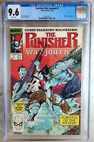 Punisher War Journal #7 Wolverine Marvel 1989 CGC 9.6 NM+ WPages Comic P0134